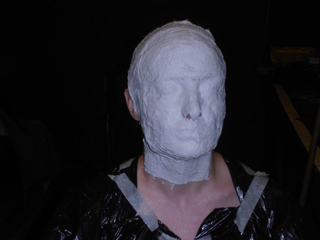 Kareena Sims having a replica head made for Anne Boleyn, 2013
