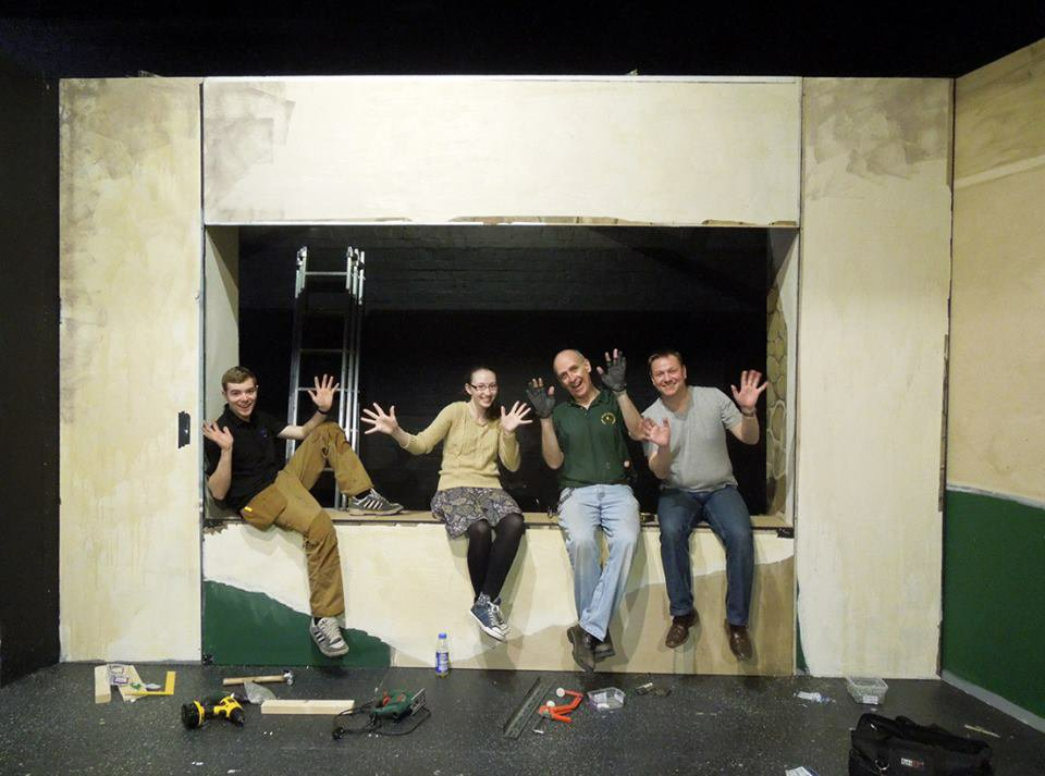 The construction team for God of Carnage, 2013
