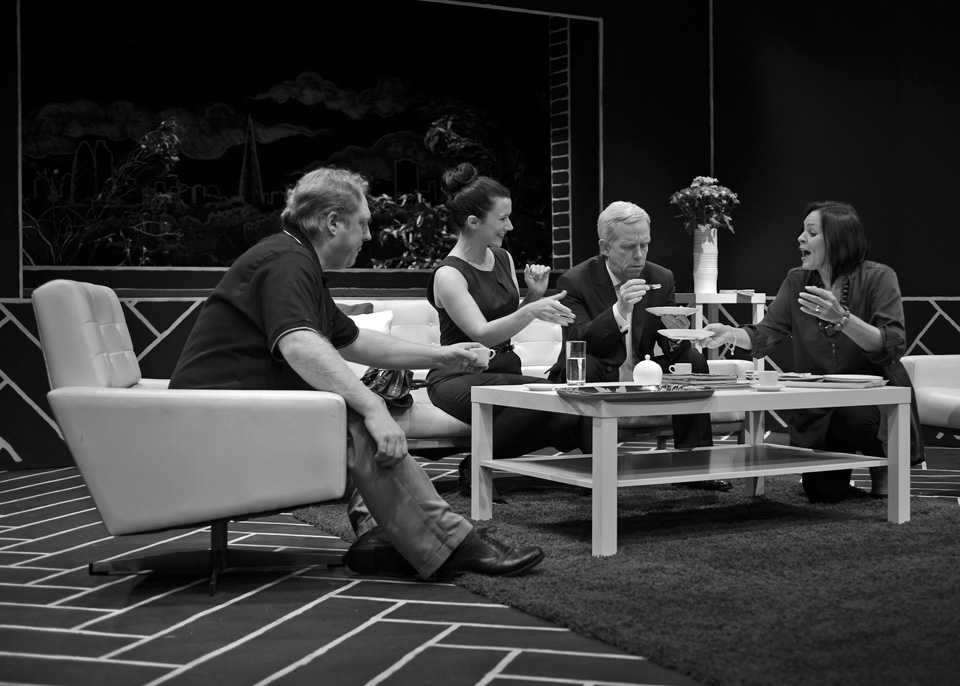 Hugh, Emma, Fraser and Sarah in God of Carnage, 2013