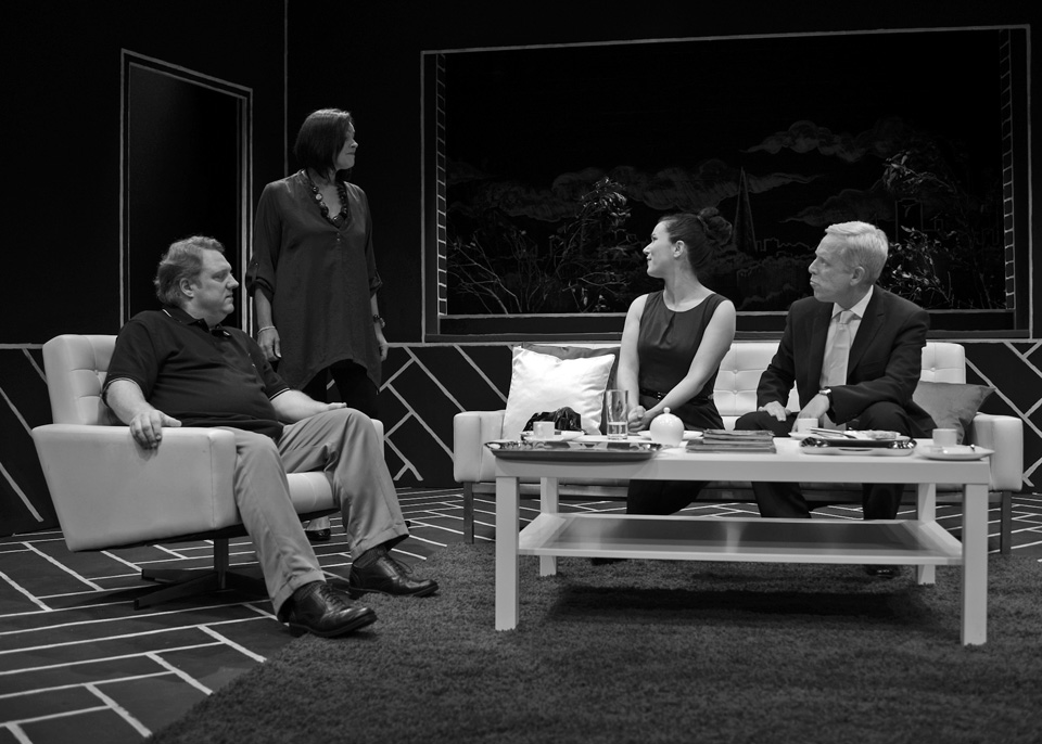 Hugh, Sarah, Emma and Fraser in God of Carnage, 2013