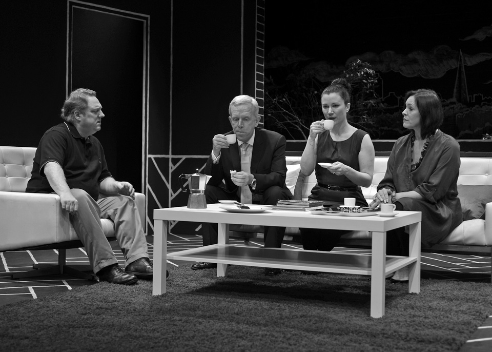 Hugh, Fraser, Emma and Sarah in God of Carnage, 2013