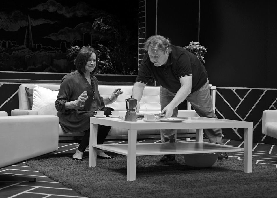 Sarah Taylor and Hugh Jenkins in God of Carnage, 2013