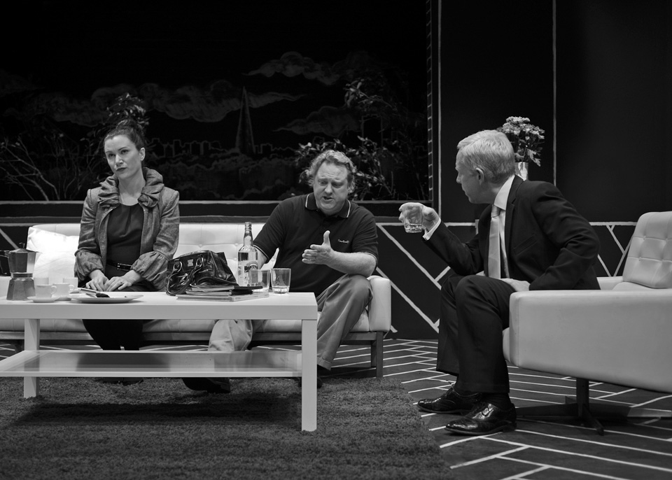 Emma, Hugh and Fraser in God of Carnage, 2013