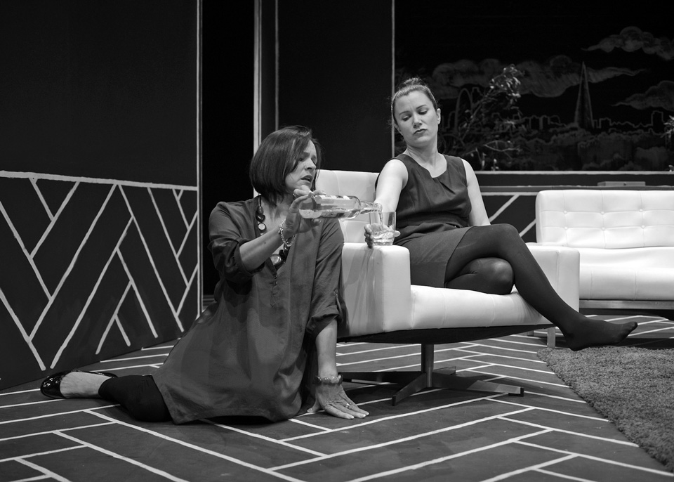 Sarah Taylor and Emma Nash in God of Carnage, 2013