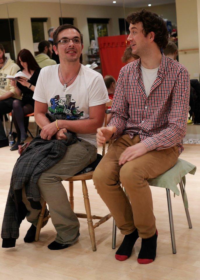 Gordon Cullen and Tom Orton rehearsing Anne Boleyn, 2013