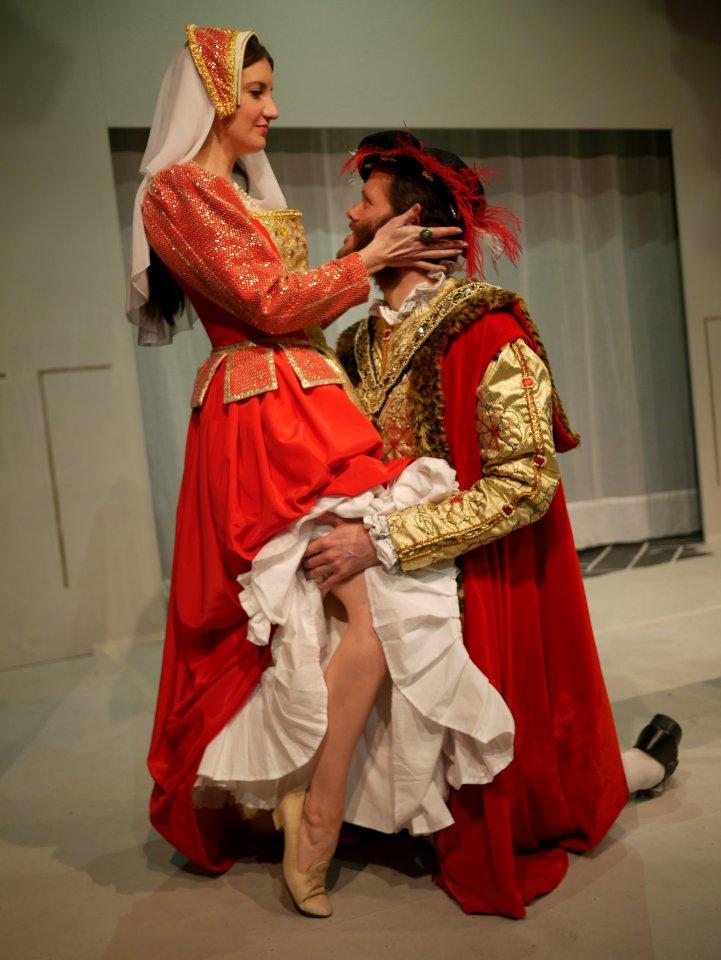 Chris Ireson and Kareena Sims in Anne Boleyn, 2013