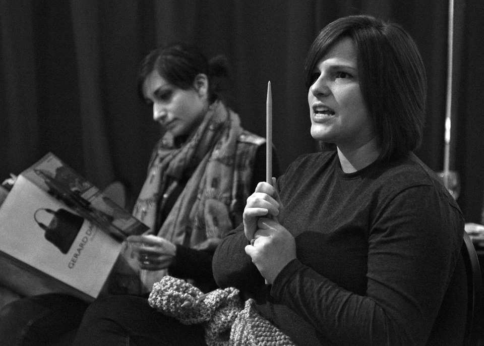 Nicky Ubhi and Kelly Gross-Bias in The Regina Monologues, 2013