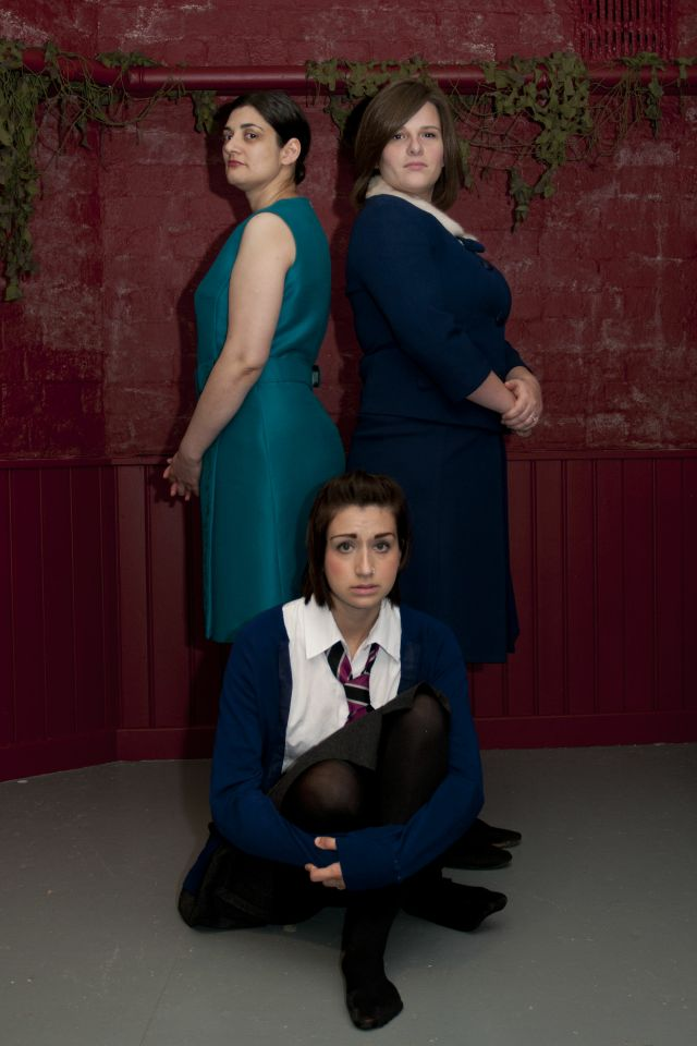 Clare, Nicky and Kelly in The Regina Monologues, 2013