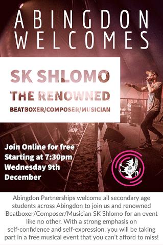 Abingdon welcomes SK Shlomo