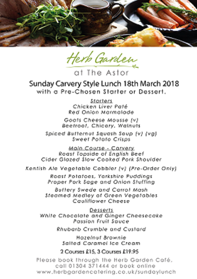 Sunday Carvery 18 March