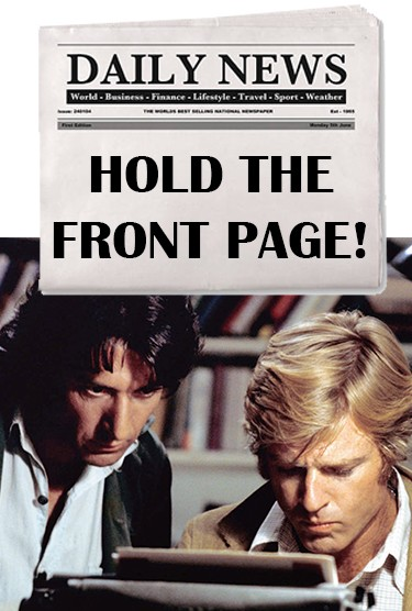 Hold the Front Page!