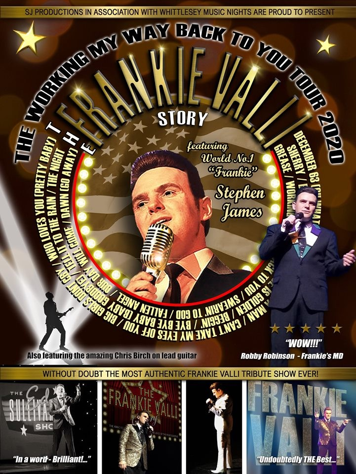 """The Frankie Valli Story – """"Working My Way Back To You Tour 2020"""""""