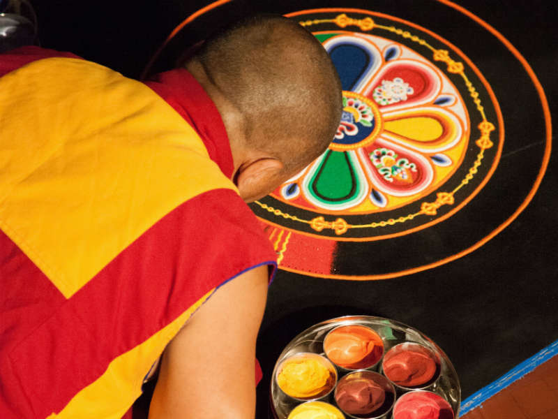 Tibetan Monks Hands on Workshop