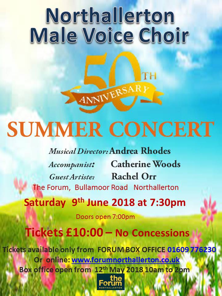 Male Voice Choir Summer 2018