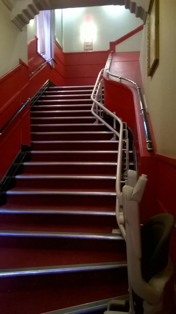 Stair lift up main staircase