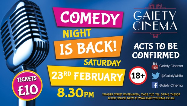 Gaiety Comedy Night Feb 2019