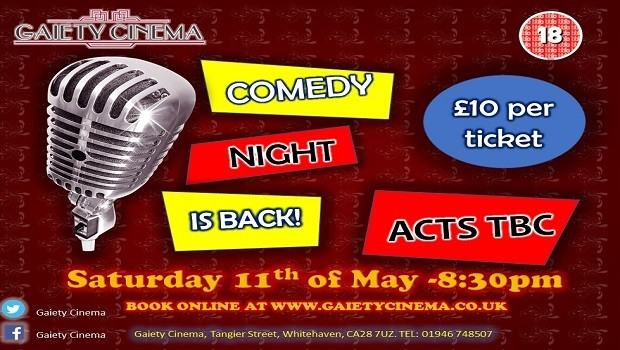 Gaiety Comedy Night 11th May 2019