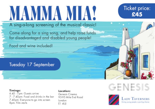 Lady Taverners Presents: Mamma Mia Sing-Along