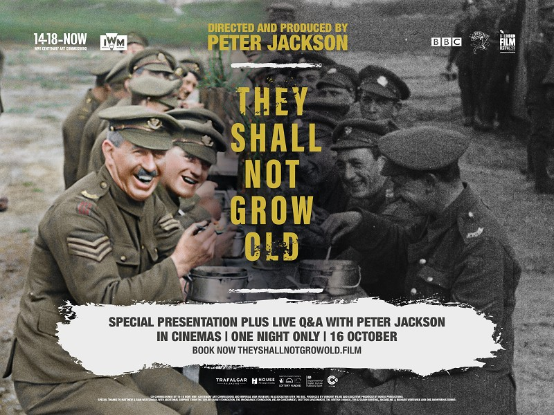 They Shall Not Grow Old Plus Live Q&A With Peter Jackson
