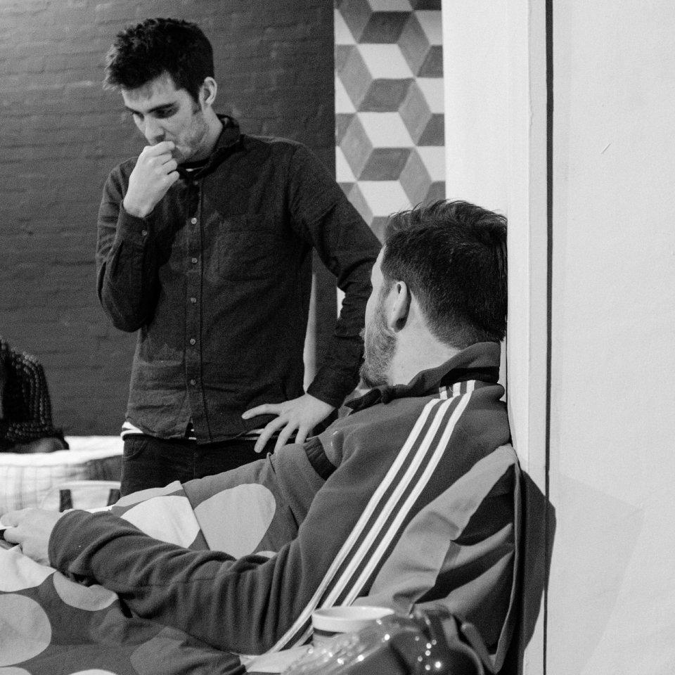 Alastair Jack and Adam Roberts in Bedroom Farce, 2015
