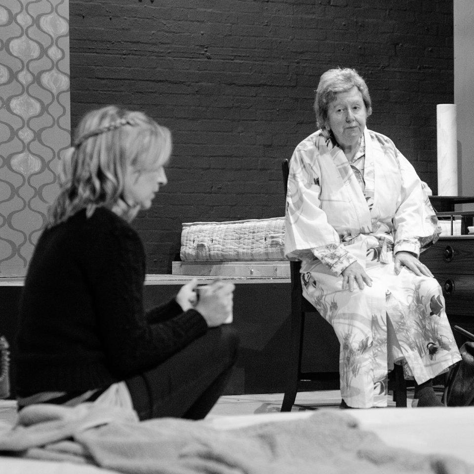 Tilda Stickley and Hazel Salisbury in Bedroom Farce, 2015