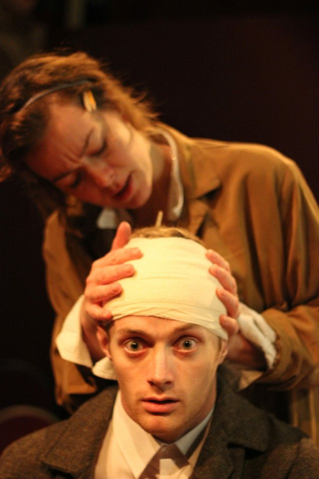 Tamzin and David in Scenes From an Execution, 2015