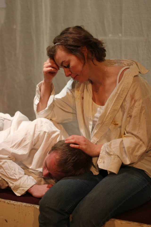 Tamzin and Chris in Scenes From an Execution, 2015