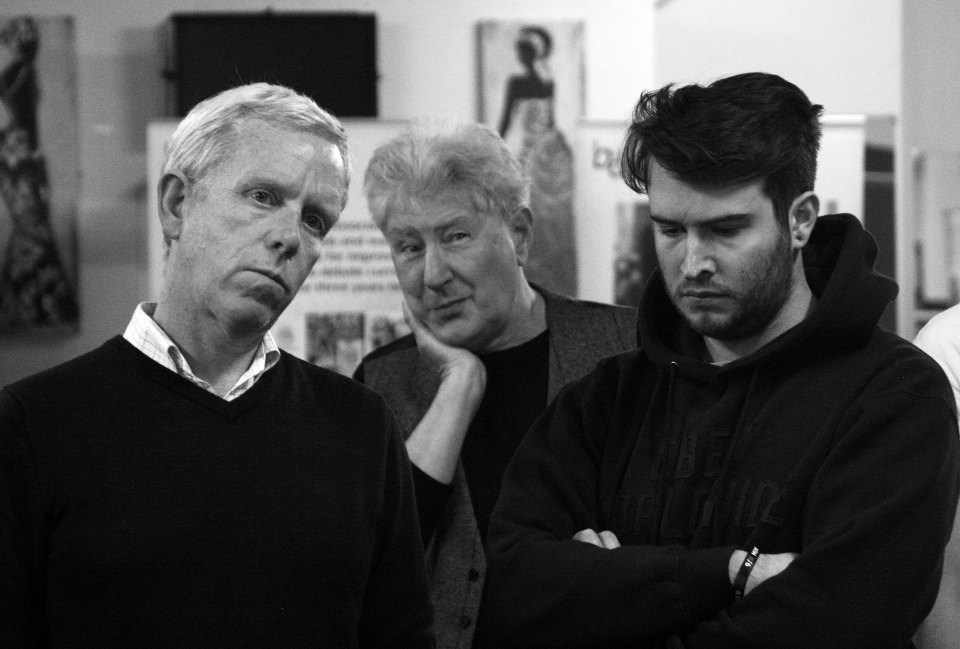Fraser, Colin and Thomas in The Pitmen Painters (2015)