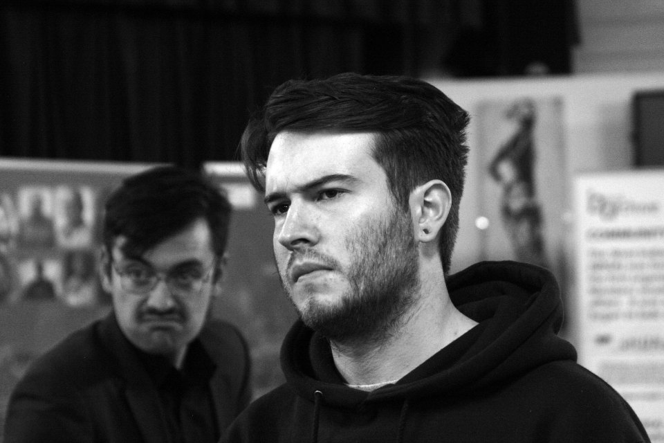 Oliver Lovely and Thomas Willis in The Pitmen Painters (2015)