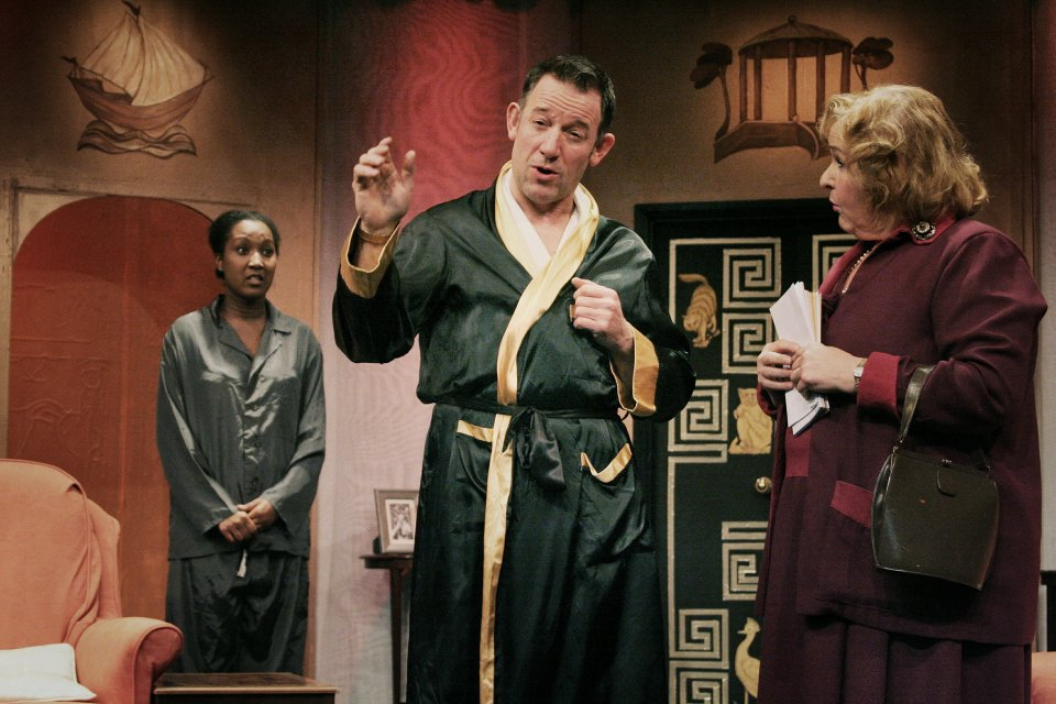 Lauren, John and Carol in Present Laughter (2015)