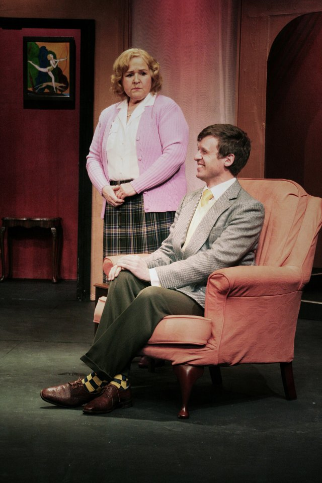 Carol Parkinson and Chris Sims in Present Laughter (2015)