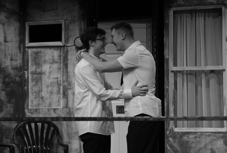 Jak Truswell and Sean Radford in Beautiful Thing, 2016