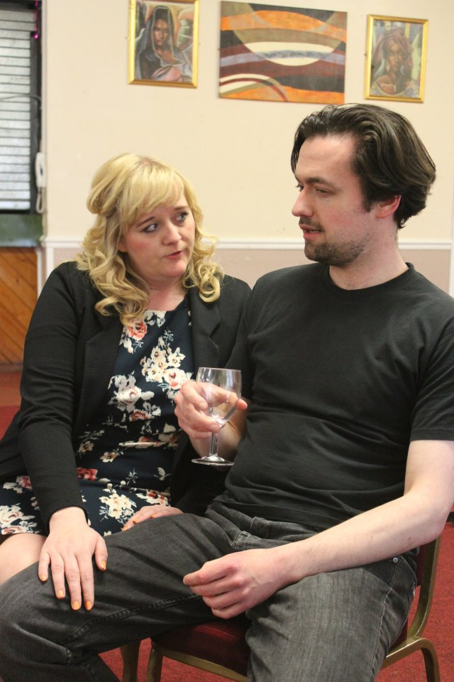 Jemma Froggitt and Oliver Lovley in Betrayal, 2016