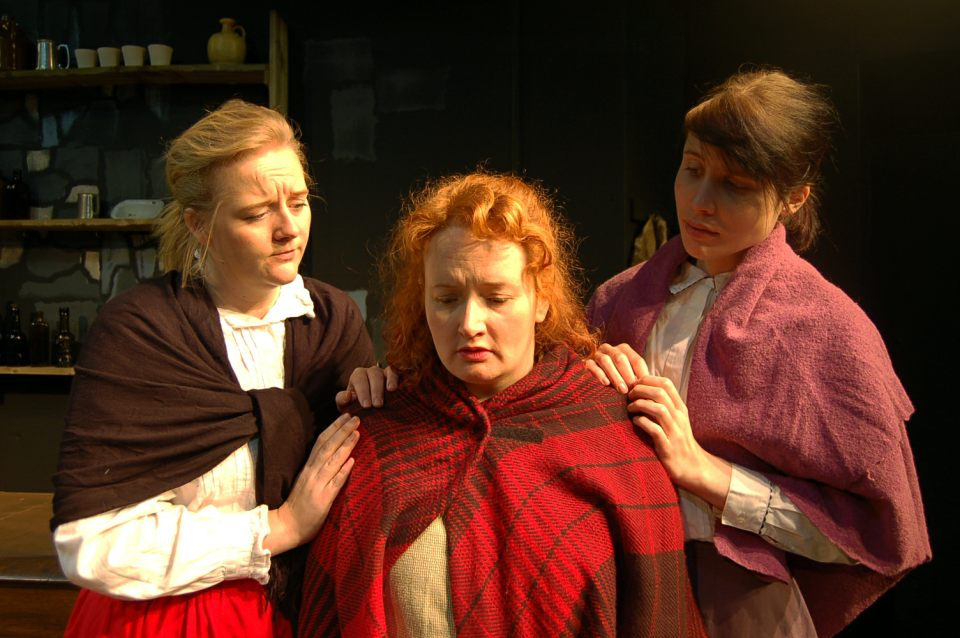 Jemma, Ali and Rosina in The Playboy of the Western World, 2016