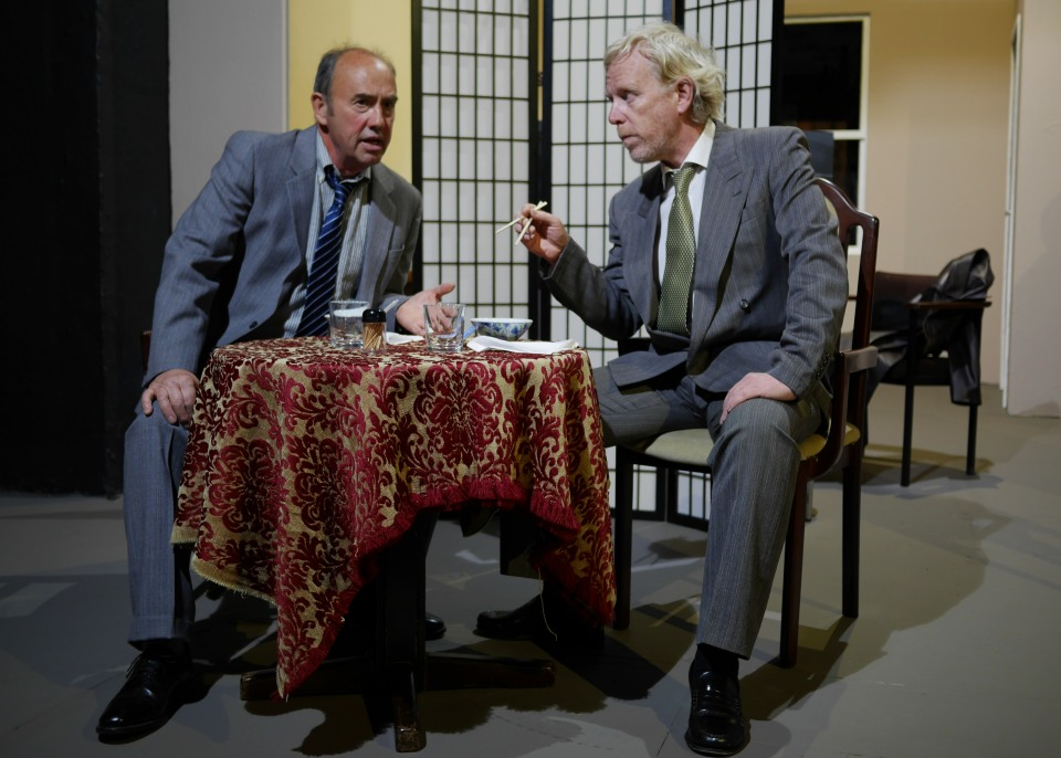 Tony Lane and Fraser Wanless in Glengarry Glen Ross, 2017