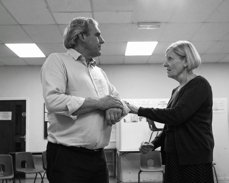 Rob Suttle and Cynthia Marsh in King Charles III, 2018
