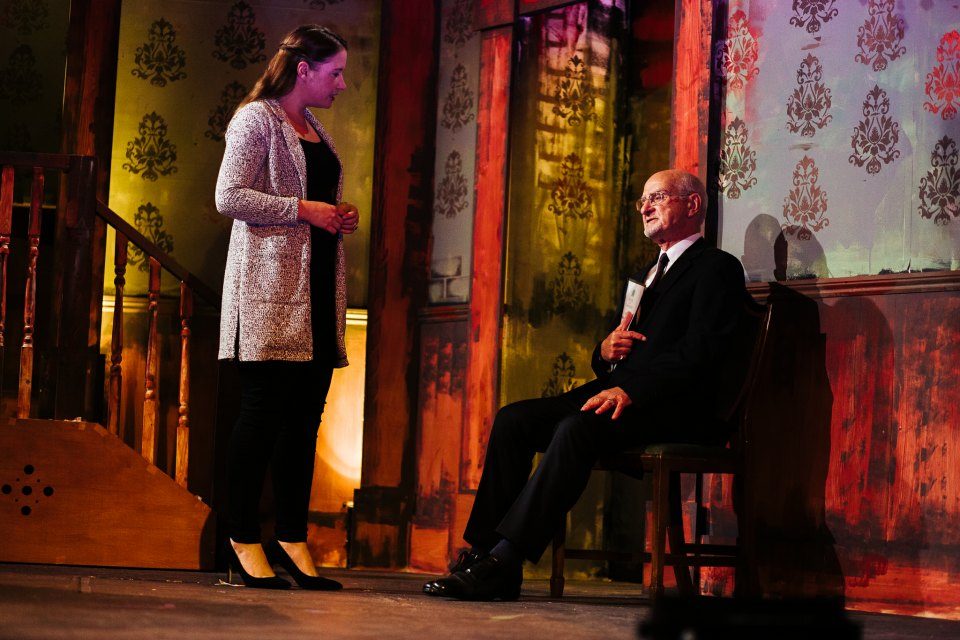 Lucy Monoghan and Roger Newman in King Charles III, 2018