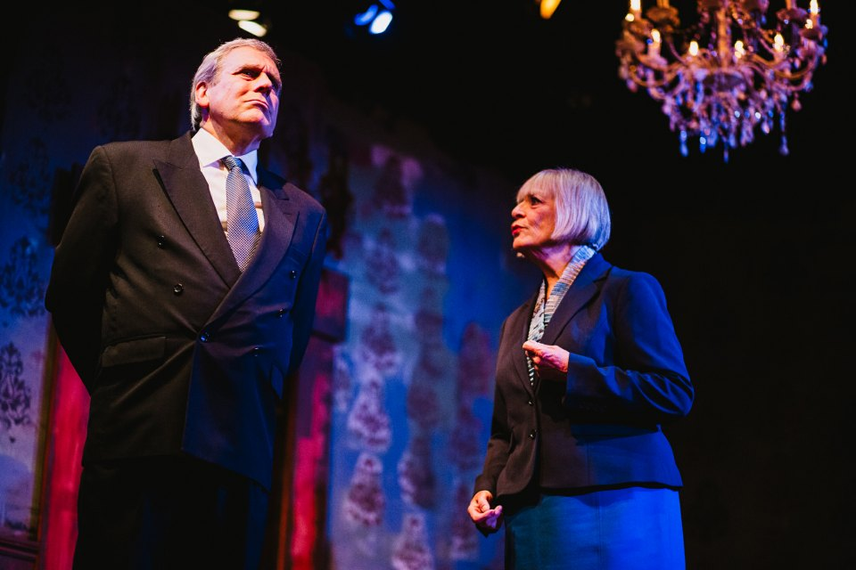 Rob Suttle and Jane Herring in King Charles III, 2018