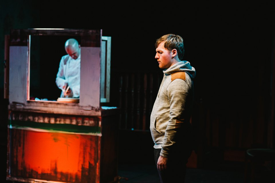 Paul Spruce and Aaron Connelly in King Charles III, 2018