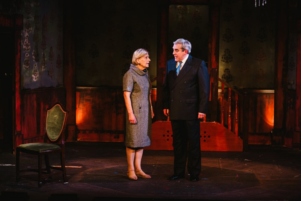 Cynthia Marsh and Rob Suttle in King Charles III, 2018