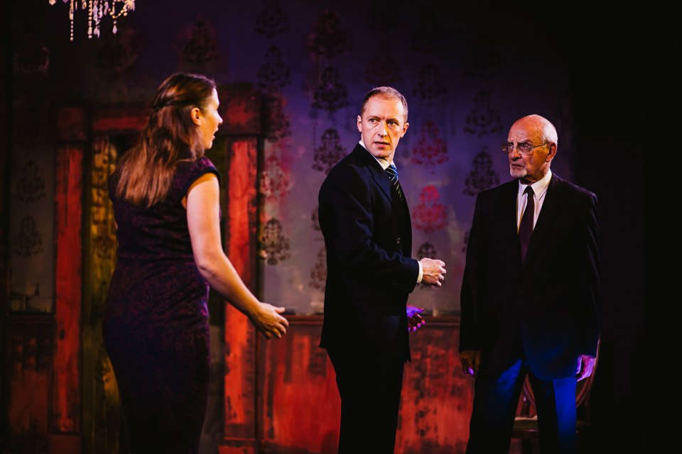 Lucy, Mark and Roger in King Charles III, 2018