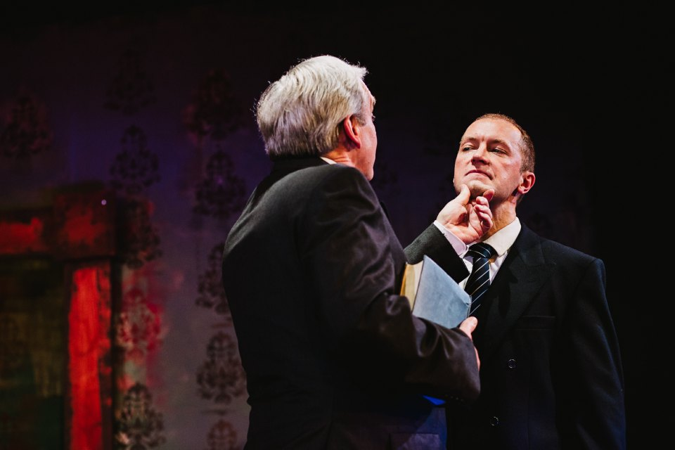 Rob Suttle and Mark Gadsby in King Charles III, 2018