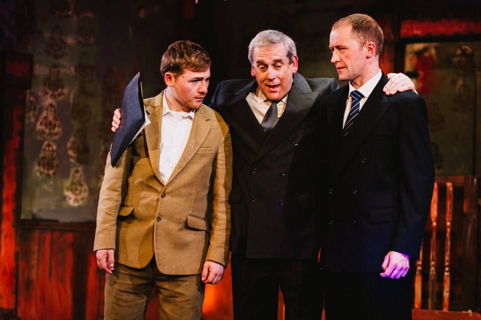 Aaron, Rob and Mark in King Charles III, 2018