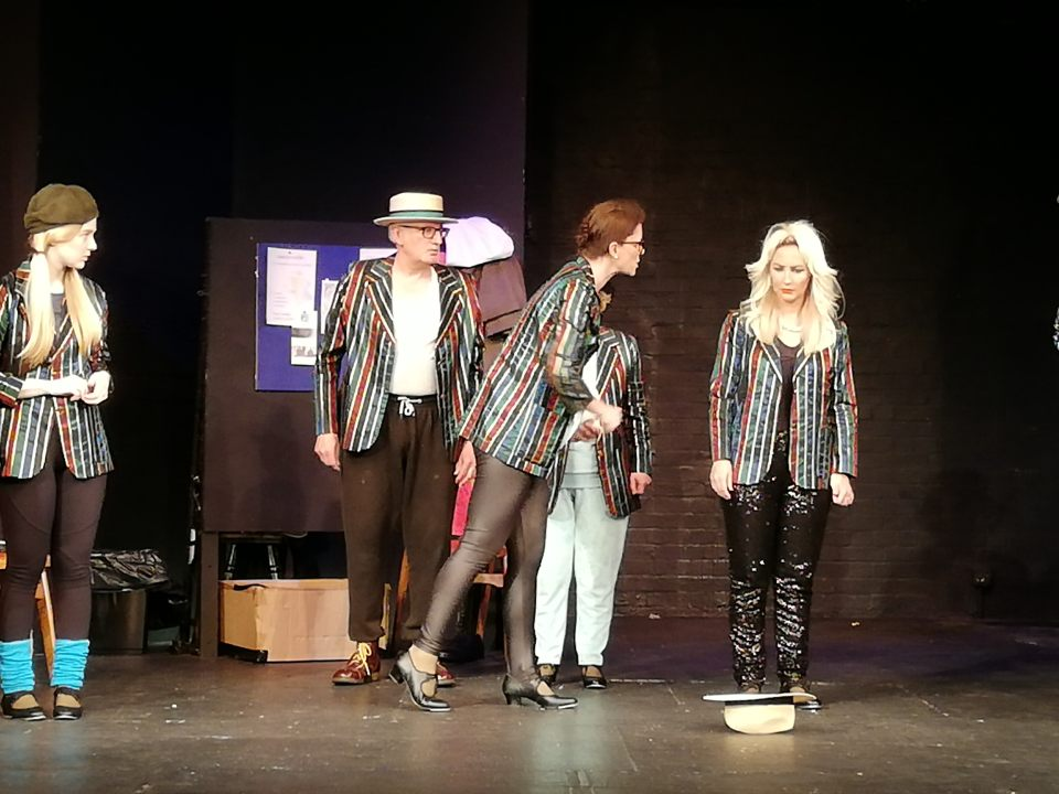 Charlie, Stephen, Amanda and Sara in Stepping Out, 2019