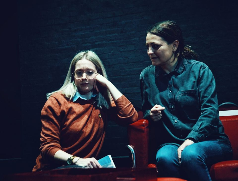 Charlie Osborne and Laura Chambers in Consent, 2019