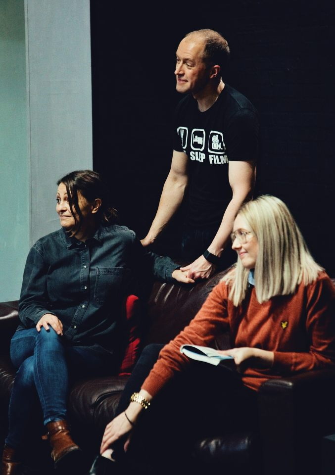 Laura, Mark and Charlie in Consent, 2019