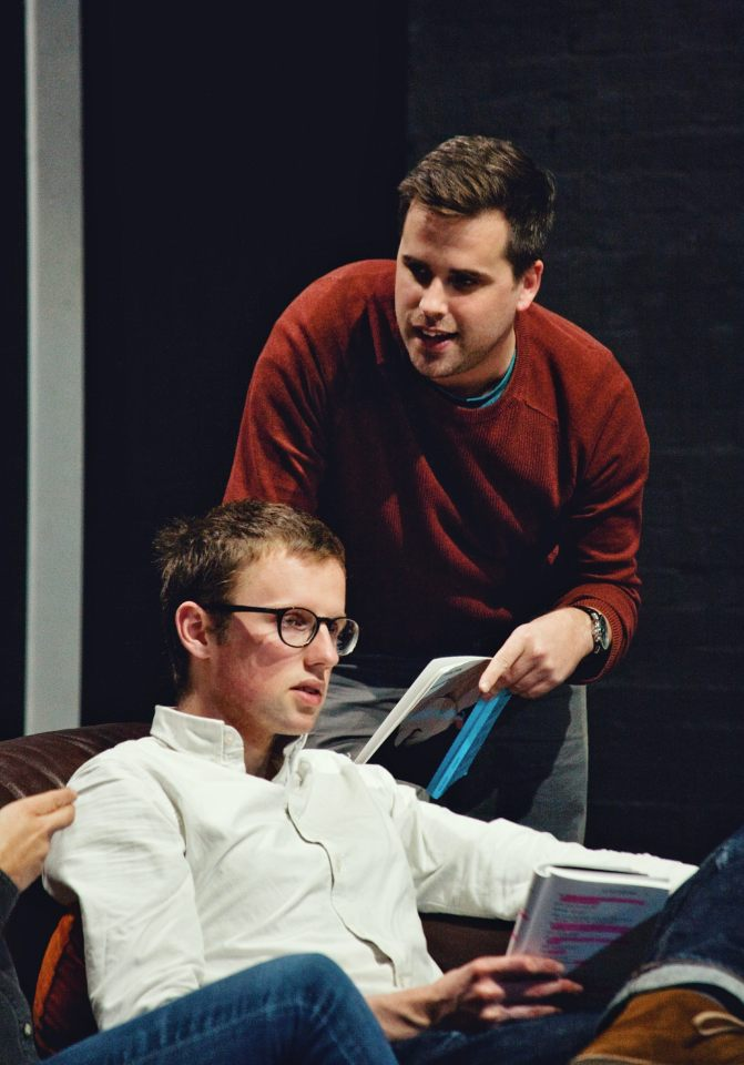 John Halstead and Matthem Huntbach in Consent, 2019