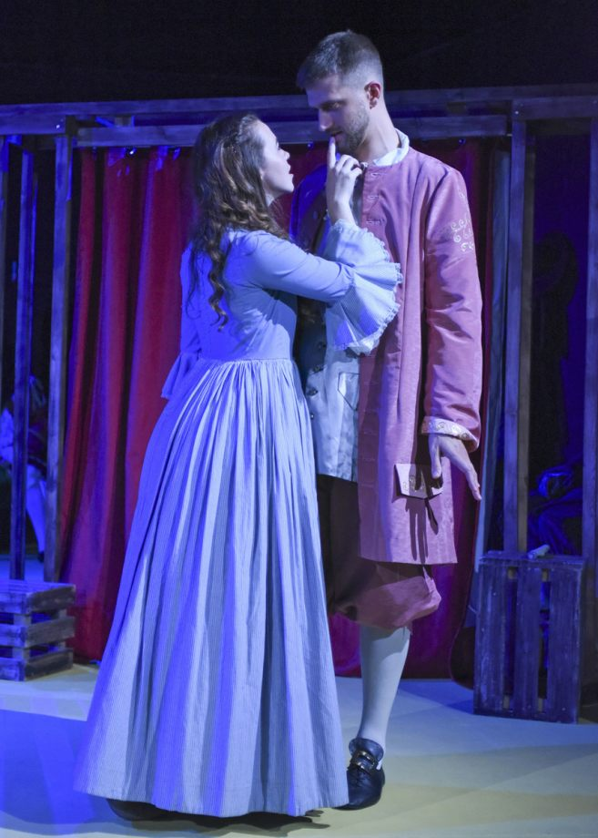 Georgia Wray and Matthew Thomason in Nell Gwynn, 2020