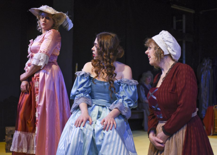 Clare Moss, Georgia Wray and Alison Hope in Nell Gwynn, 2020
