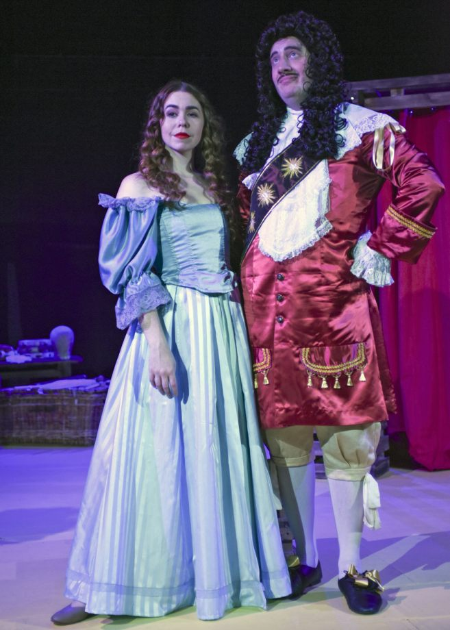 Georgia Wray and Jamie Goodliffe in Nell Gwynn, 2020